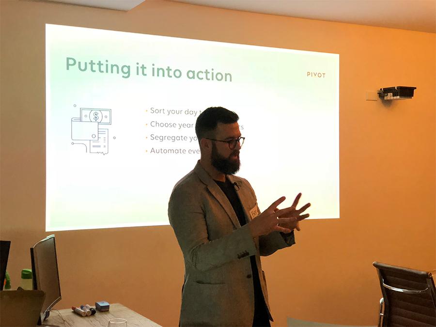 Ben Nash presenting
