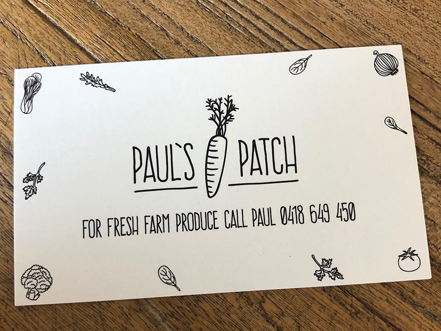 Paul's Patch, business card